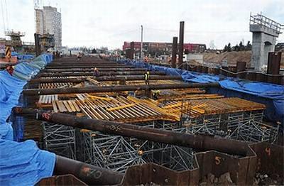 (Budowa mostu, fot. UM Toruń)